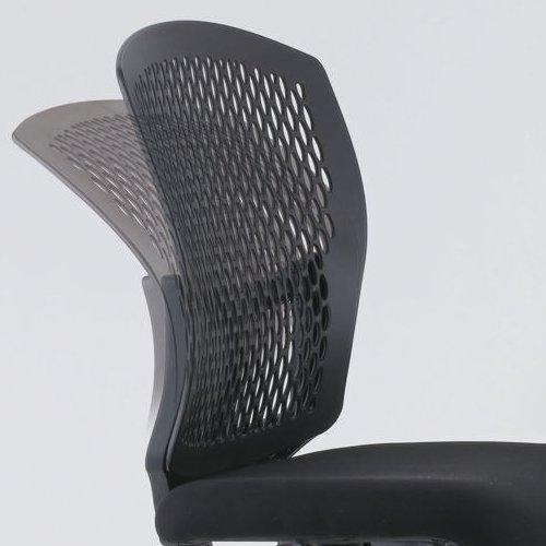 チェア(椅子) 井上金庫(イノウエ) 樹脂メッシュチェア スチールメッキ脚タイプ D4C-07M 肘なし商品画像3