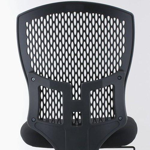 チェア(椅子) 井上金庫(イノウエ) 樹脂メッシュチェア スチールメッキ脚タイプ D4C-07M 肘なし商品画像5