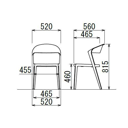 スタッキングチェア DBC デュオブロック 肘なし 強化P.P.樹脂成形品商品画像7