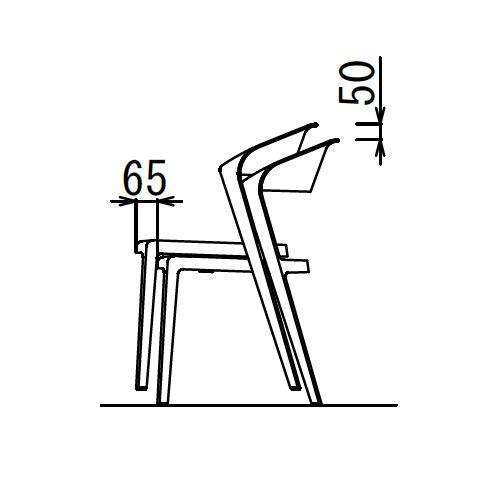 スタッキングチェア DBC デュオブロック 肘なし 強化P.P.樹脂成形品商品画像8