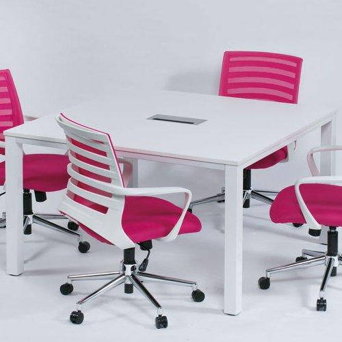 テーブル(会議用) フリーアドレステーブル 正方形天板 基本セット DRT-1212 W1200×D1200×H700(mm)商品画像5