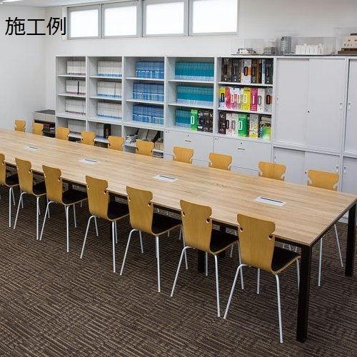 【廃番】テーブル(会議用) 井上金庫(イノウエ) フリーアドレステーブル 正方形天板 基本セット DRT-1212 W1200×D1200×H700(mm)商品画像6