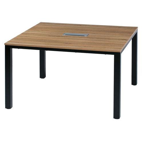 テーブル(会議用) フリーアドレステーブル 正方形天板 基本セット DRT-1212 W1200×D1200×H700(mm)のメイン画像