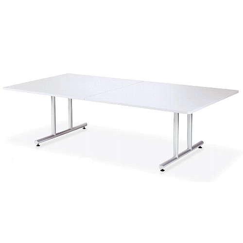 テーブル(会議用) アイコ 2本固定脚 DWS-2412K W2400×D1200×H700(mm) 角形天板 粉体塗装のメイン画像