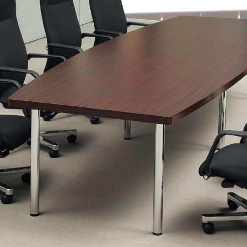 テーブル(会議用) アイコ 4本固定脚 DXM-3612B W3600×D1200×H700(mm) ボート形(舟形)天板 クロームメッキ商品画像4