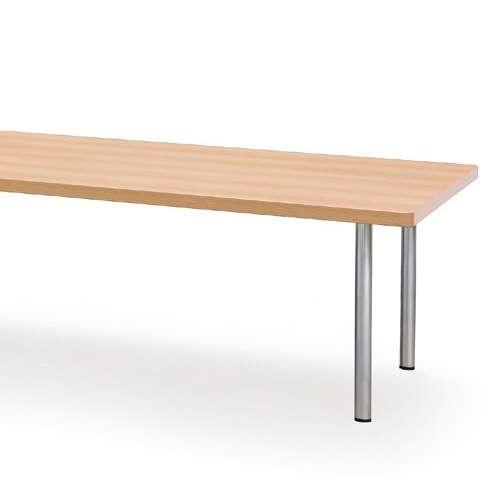 テーブル(会議用) 4本固定脚 DXM-3612K W3600×D1200×H700(mm) 角形天板 クロームメッキ商品画像5