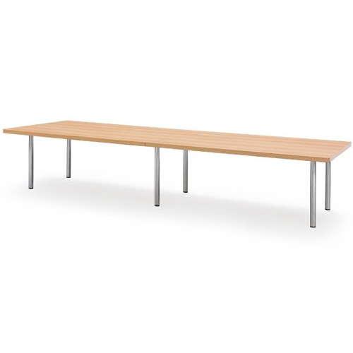 テーブル(会議用) 4本固定脚 DXM-3612K W3600×D1200×H700(mm) 角形天板 クロームメッキのメイン画像
