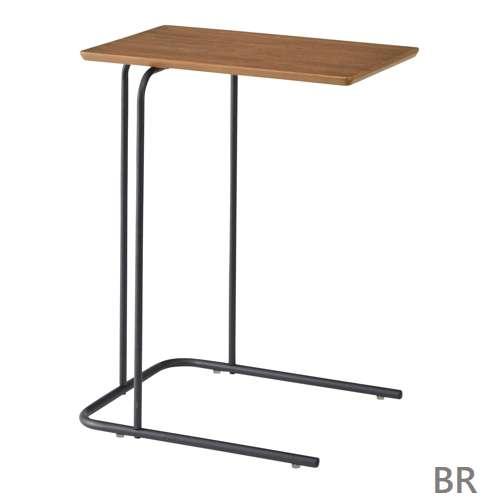 サイドテーブル アーロン END-222 スチール脚 アジャスター付き ブラックフレーム商品画像2