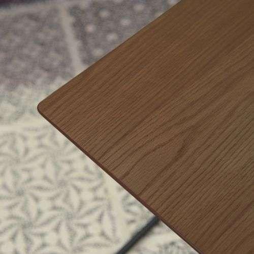 サイドテーブル アーロン END-222 スチール脚 アジャスター付き ブラックフレーム商品画像5