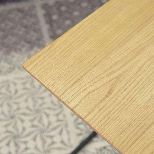 サイドテーブル アーロン END-222 スチール脚 アジャスター付き ブラックフレーム商品画像6