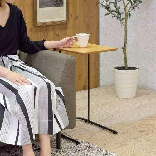 サイドテーブル アーロン END-222 スチール脚 アジャスター付き ブラックフレーム商品画像8