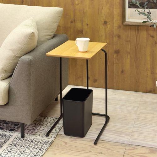 サイドテーブル アーロン END-222 スチール脚 アジャスター付き ブラックフレーム商品画像9
