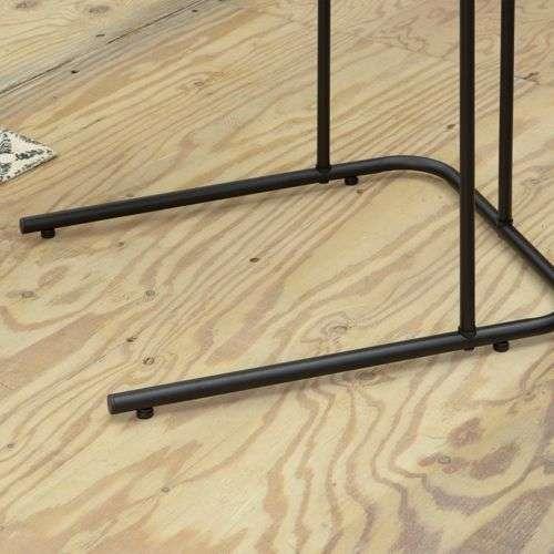 サイドテーブル アーロン END-222 スチール脚 アジャスター付き ブラックフレーム商品画像10