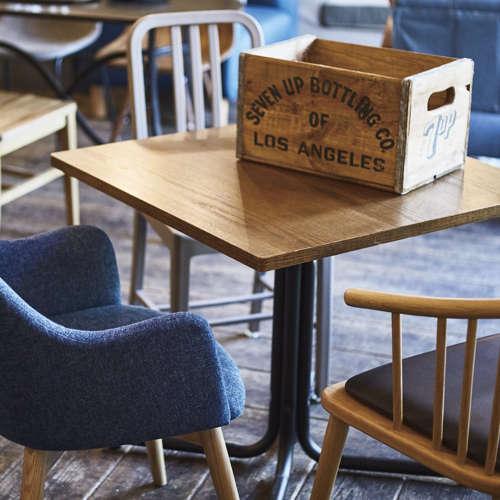 ダリオ カフェテーブル AZUMAYA(東谷) END-223T W750×D750×H670(mm) 正方形天板商品画像4