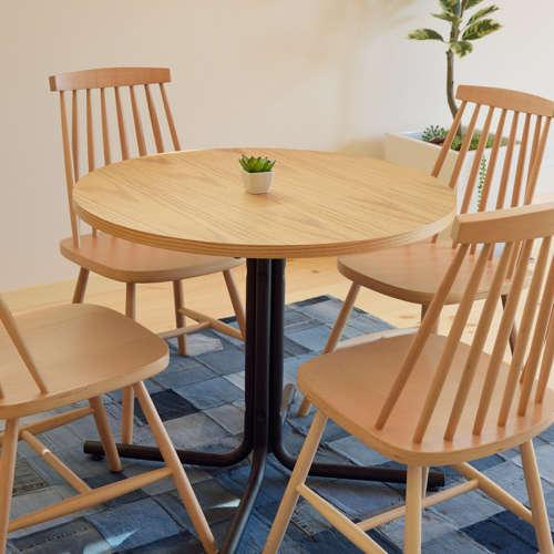ダリオ カフェテーブル AZUMAYA(東谷) END-225T W800×D800×H670(mm) 円形天板商品画像5