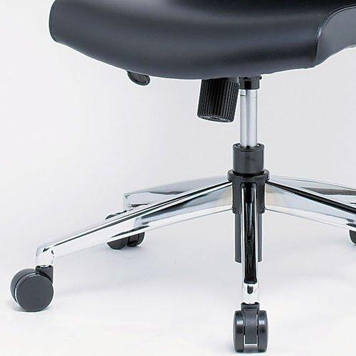 チェア(椅子) 井上金庫(イノウエ) プレジデントチェア スチールメッキ脚タイプ ERA-17M 肘なし商品画像3