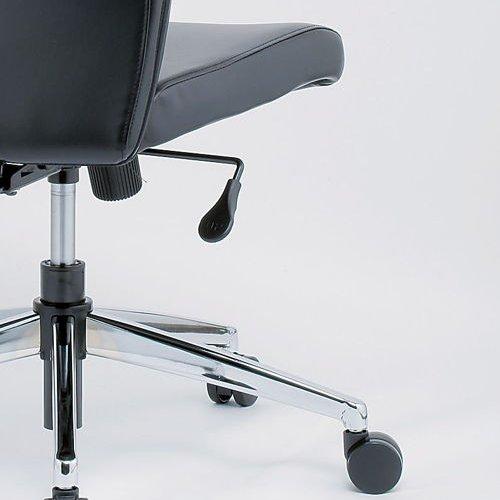 チェア(椅子) 井上金庫(イノウエ) プレジデントチェア スチールメッキ脚タイプ ERA-17M 肘なし商品画像4
