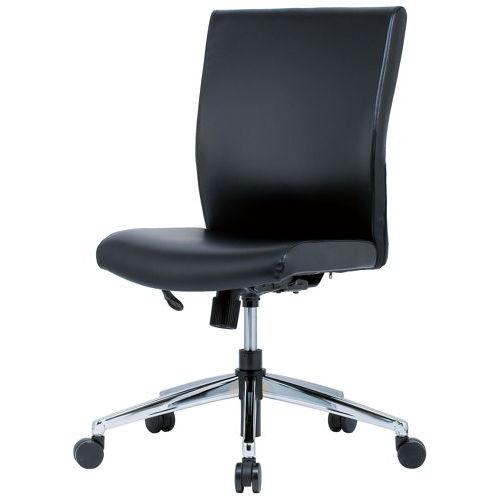チェア(椅子) 井上金庫(イノウエ) プレジデントチェア スチールメッキ脚タイプ ERA-17M 肘なしのメイン画像
