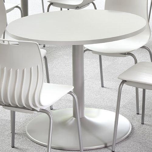 会議用テーブル アイコ 円形天板 900φ ETS-900R W900×D900×H720(mm) 1本脚テーブル シルバー塗装脚商品画像4