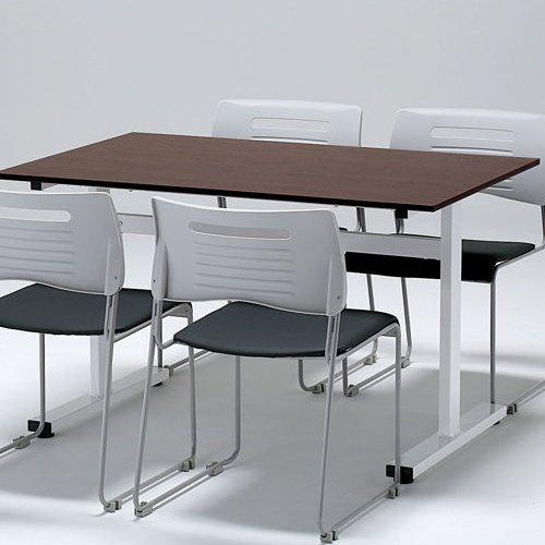 会議用テーブル 井上金庫(イノウエ) 2本脚(T字型) FAT-1275 W1200×D750×H700(mm)商品画像6