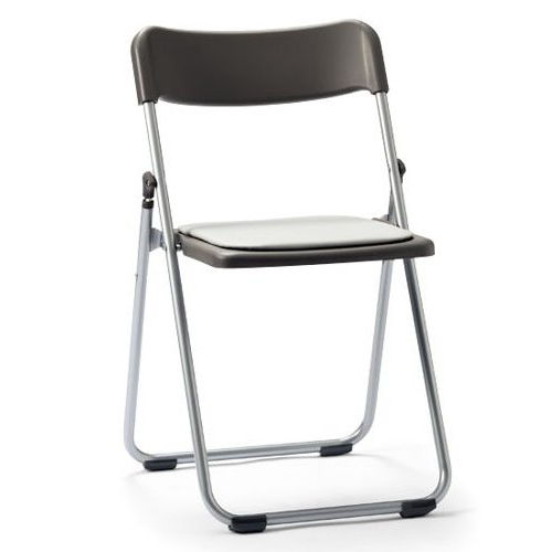 スライド式折りたたみ椅子 アイコ アルミパイプ FCA-19S フラット収納チェア商品画像1