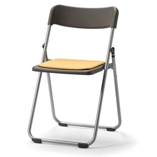 会議椅子 スライド式折りたたみ椅子 アルミパイプ FCA-19S フラット収納チェア商品画像3