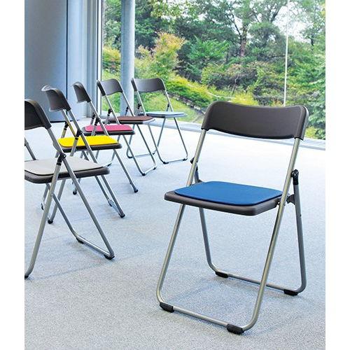 会議椅子 スライド式折りたたみ椅子 アルミパイプ FCA-19S フラット収納チェア商品画像10