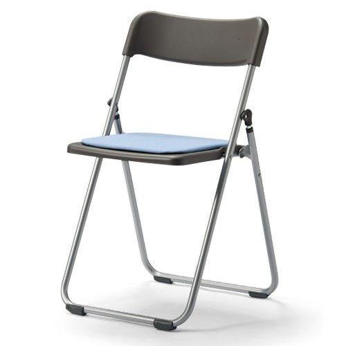 会議椅子 スライド式折りたたみ椅子 アルミパイプ FCA-19S フラット収納チェアのメイン画像