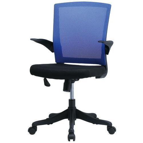 チェア(椅子) 井上金庫(イノウエ) メッシュチェア FEM-14A 肘あり商品画像6