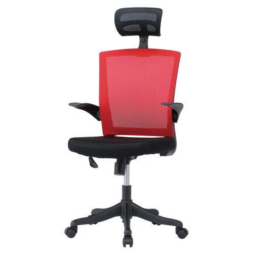 チェア(椅子) 井上金庫(イノウエ) メッシュチェア ヘッドレスト付きタイプ FEM-H21A 肘あり商品画像3