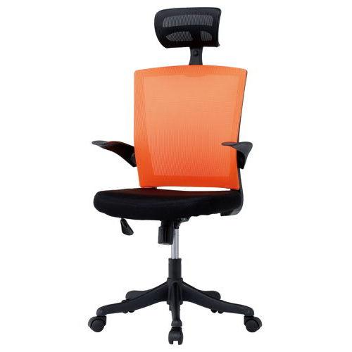 チェア(椅子) 井上金庫(イノウエ) メッシュチェア ヘッドレスト付きタイプ FEM-H21A 肘あり商品画像4
