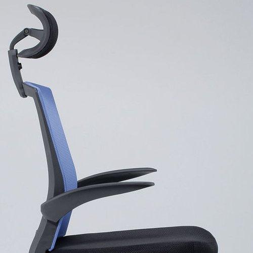 チェア(椅子) 井上金庫(イノウエ) メッシュチェア ヘッドレスト付きタイプ FEM-H21A 肘あり商品画像8