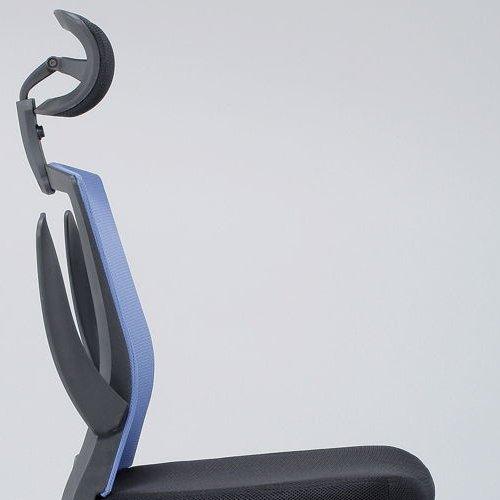 チェア(椅子) 井上金庫(イノウエ) メッシュチェア ヘッドレスト付きタイプ FEM-H21A 肘あり商品画像9