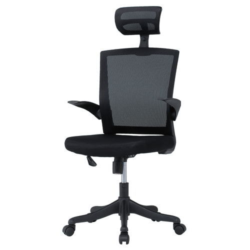 チェア(椅子) 井上金庫(イノウエ) メッシュチェア ヘッドレスト付きタイプ FEM-H21A 肘ありのメイン画像
