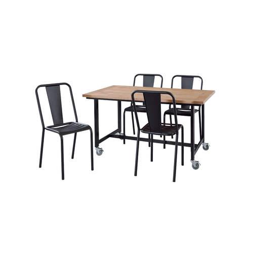 ダイニングテーブル ワーカーテーブル AZUMAYA(東谷) GUY-672 W1350×D800×H720(mm)商品画像5