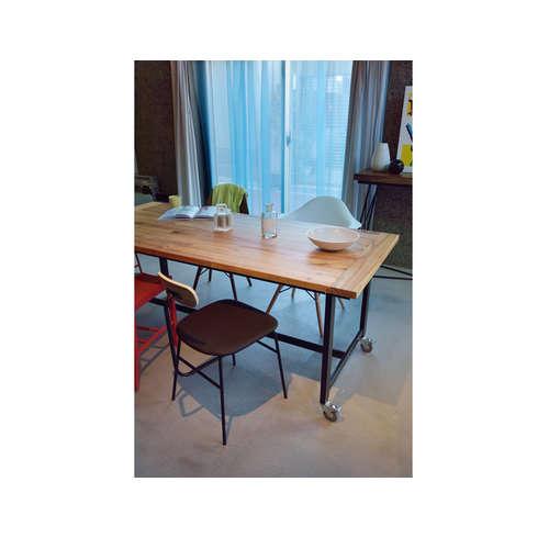 ダイニングテーブル ワーカーテーブル AZUMAYA(東谷) GUY-674 W1800×D800×H720(mm)商品画像8