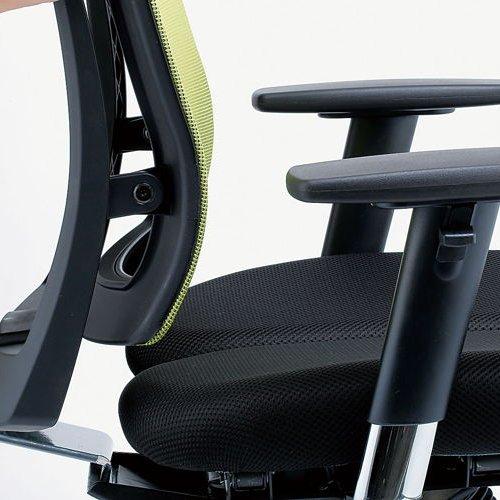 チェア(椅子) 井上金庫(イノウエ) プレジデントメッシュチェア HHC-19A 上下可動肘付き商品画像10