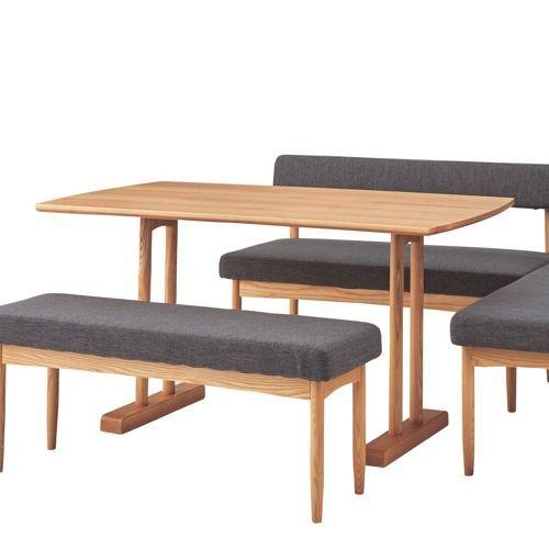 ダイニングテーブル エコモシリーズ AZUMAYA(東谷) HOT-153NA 天然木(アッシュ) W1200×D750×H680(mm)商品画像3