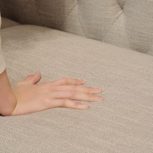 ソファ エリーゼ 2人掛けソファ ベージュカラー ポケットコイル ダイヤステッチ商品画像3