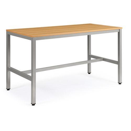 会議用テーブル ハイテーブル HTK-1890 W1800×D900×H1040(mm) シルバー塗装脚 4本脚テーブル アジャスター付商品画像2
