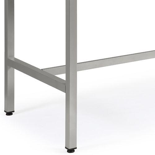 会議用テーブル ハイテーブル HTK-1890 W1800×D900×H1040(mm) シルバー塗装脚 4本脚テーブル アジャスター付商品画像6