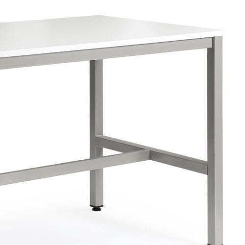 会議用テーブル ハイテーブル HTK-1890 W1800×D900×H1040(mm) シルバー塗装脚 4本脚テーブル アジャスター付商品画像7