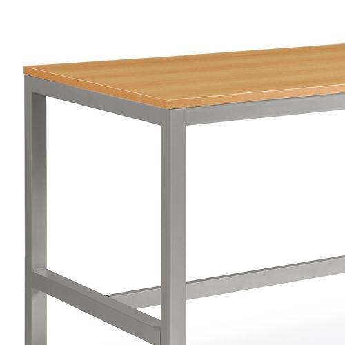 会議用テーブル ハイテーブル HTK-1890 W1800×D900×H1040(mm) シルバー塗装脚 4本脚テーブル アジャスター付商品画像8