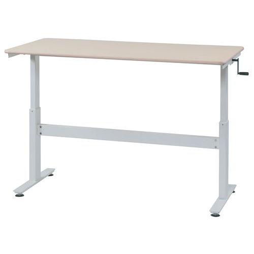 テーブル(会議用) 上下昇降式テーブル HUD-1680 W1600×D800×H680~1030(mm)商品画像3