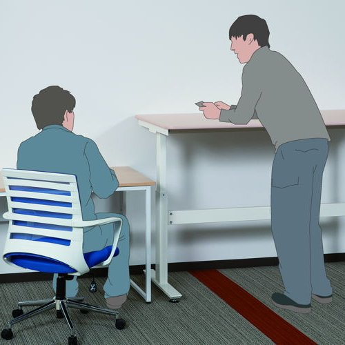 会議用テーブル 井上金庫(イノウエ) 上下昇降式テーブル HUD-1680 W1600×D800×H680~1030(mm)商品画像6