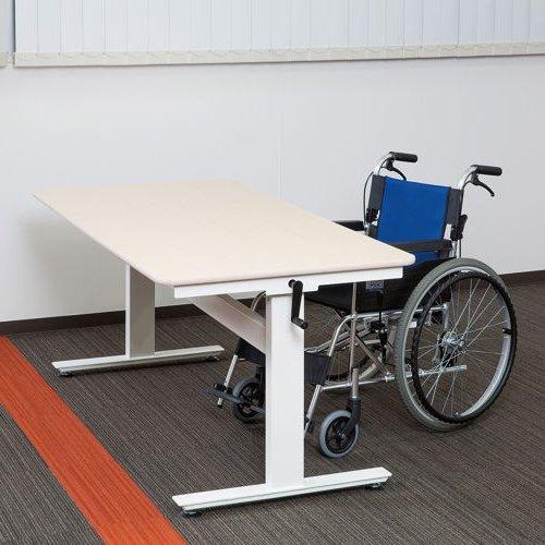 テーブル(会議用) 上下昇降式テーブル HUD-1680 W1600×D800×H680~1030(mm)商品画像7
