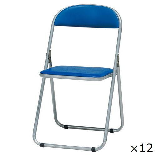 スライド式折りたたみ椅子 井上金庫(イノウエ) IB-09N-12 12脚セット商品画像1
