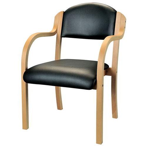 介護椅子 井上金庫(イノウエ) ナチュラルフレーム 丸背 木製チェア IKD-01 肘あり商品画像3