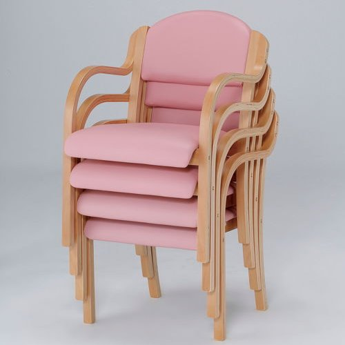介護椅子 ナチュラルフレーム 丸背 木製チェア IKD-01 肘あり商品画像7