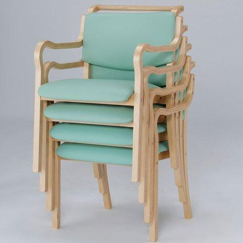 介護椅子 ナチュラルフレーム 角背 木製チェア 持ち手付き IKD-03 肘あり商品画像7